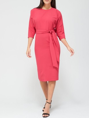 Very Rosa Kimono Sleeve Fitted Dress - Pink