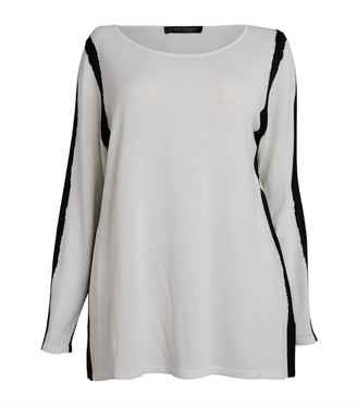 Marina Rinaldi Contrast-Trim Sweater