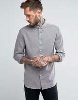 Farah Shirt With Textured Weave In Regular Fit