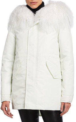 Mr & Mrs Italy New York Warm Parka Coat with Fur Hood & Detachable Vest