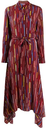 Chinti and Parker Printed Silk Mid-Length Dress