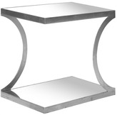 The Well Appointed House Silver End Table with Mirrored Top