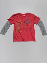 Junk Food Clothing Kids Boys Superman Longsleeve Tee-rooster/classic Grey-l