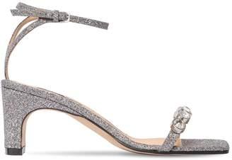 Sergio Rossi 60mm Embellished Glitter Sandals
