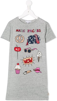 Little Marc Jacobs cartoon print T-shirt dress