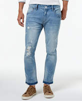 INC International Concepts I.n.c. Men's Unhemmed Ripped Stretch Skinny Jeans, Created for Macy's