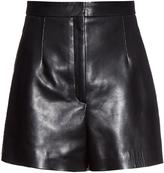 Balenciaga High-waist leather shorts