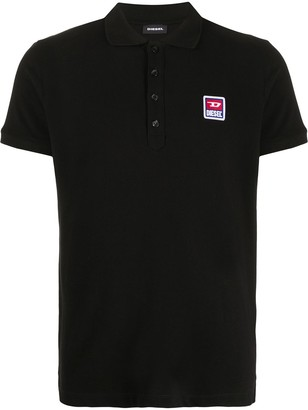 Diesel Logo Patch Short-Sleeved Polo Shirt