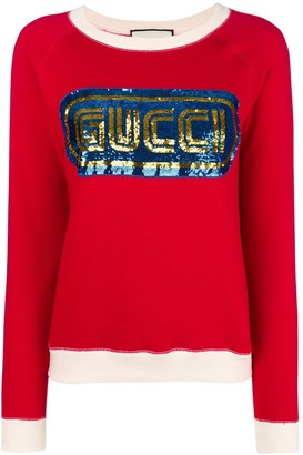 Gucci Sequined Logo Sweatshirt