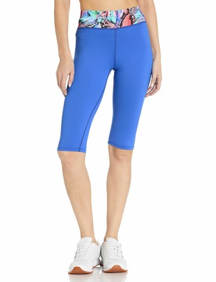 Luli Fama Women's Mixed Waistband Capri
