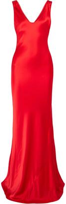 Galvan Silk-satin Maxi Dress