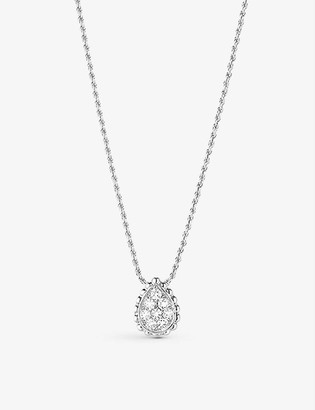 Boucheron Serpent Boheme 18ct white-gold and 0.13ct diamond pendant necklace