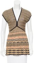 M Missoni Stripe Pattern Knit Top
