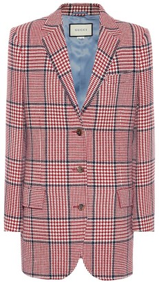 Gucci Checked wool-blend blazer
