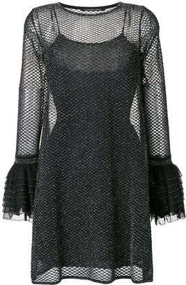 Valenti Antonino ruffled flared dress