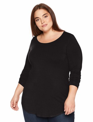 Daily Ritual Women's Plus Size Jersey Long-Sleeve Scoop Neck Tunic 1X