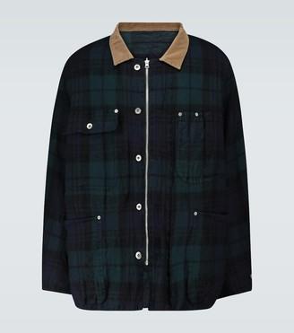 Sacai Check Shrivel blouson jacket