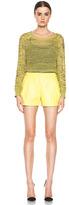Proenza Schouler Leather Shorts in Lemon