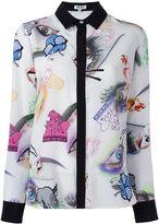 Kenzo Visage shirt - women - Silk - 38