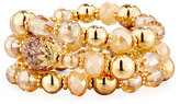 Fragments for Neiman Marcus Golden Beaded Stretch Bracelets, Set of 3