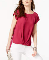 INC International Concepts I.n.c. Draped-Hem Top, Created for Macy's