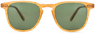 Garrett Leight Polarized Brooks in Butterscotch & Green Polar | FWRD