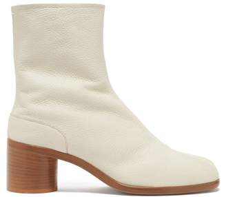 Maison Margiela Tabi Split-toe Leather Boots - Mens - Beige
