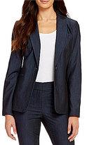 Calvin Klein Luxe Stretch Dressy Denim Suiting Jacket