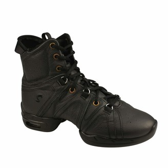 Sansha Skazz by Women's High Boots Dance Studio Exercise Sneakers Leather Split-Sole with air Cushion Vortex