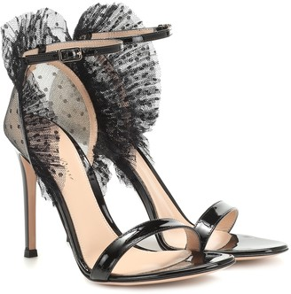 Gianvito Rossi Tulle and patent leather sandals