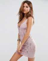 Free People Bodycon Knitted Slip Dress