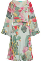 Matthew Williamson Flared Printed Silk-Chiffon Dress