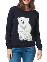 Sugarhill Boutique Rita Polar Bear Cub Jumper, Navy