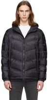 Woolrich Black Down Chevron Hooded Jacket
