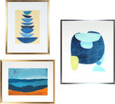 """Serena & Lily """"Gallery Wall, 3 Seascape Abstractions"""" by Rob Delamater"""