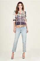 True Religion Grommet Womens Boyfriend Jean