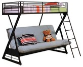 ACME Furniture Zazie Kids Futon Bunk Bed - Sandy Black(Twin/Full) - Acme
