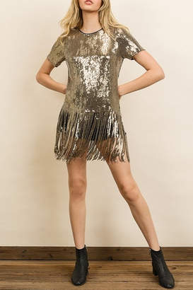 Dress Forum Sequin Fringe Tee