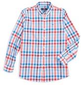 Vineyard Vines Boy's Chalwell Gingham Whale Shirt