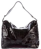 Moschino Embossed Patent Leather Hobo