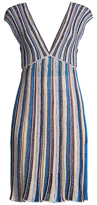 M Missoni Sleeveless V-Neck Mini Dress