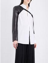 Ann Demeulemeester Leather sleeve