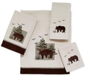 Avanti Bear Patch Cotton Embroidered Bath Towel Bedding
