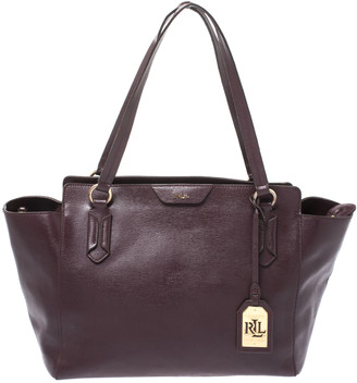 Ralph Lauren Burgundy Leather Tote
