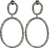 Diamond Again Hoop Earrings