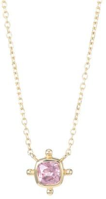 Anzie Dew Drop 14K Yellow Gold & Malaya Garnet Pendant Necklace