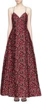 Alice + Olivia 'Marilla' floral cloqué gown
