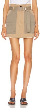 Frame Paperbag Multi Tone Skirt in Cargo Multi | FWRD