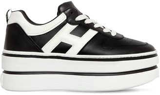 Hogan 70mm Maxi Double Leather Sneakers