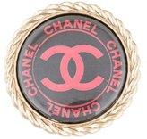 Chanel CC Button Brooch